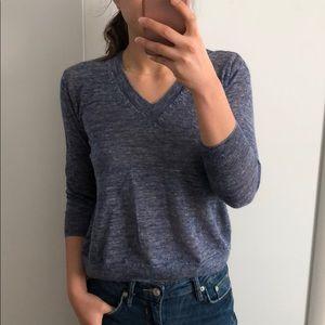 J. CREW Blue V Neck Sweater